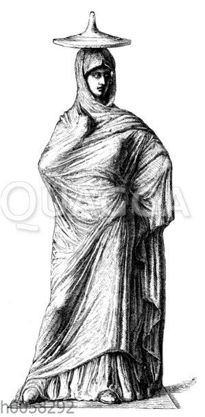 Dame von Tanagra mit Chiton