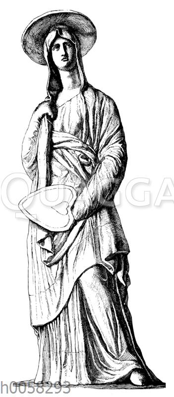 Griechische Tonfigur aus Tanagra