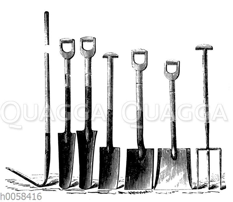 Gerätschaften für die Drainage