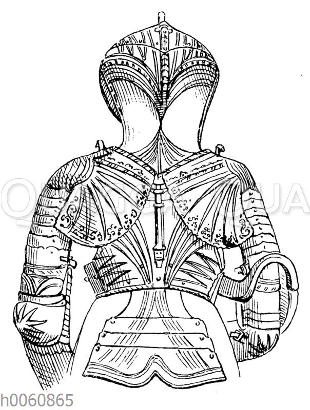 Gotische Rüstung aus der 2. Hälfte des 15. Jahrhunderts