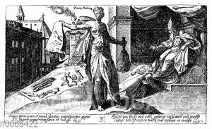 Symbolische Darstellung der Macht des Papstum