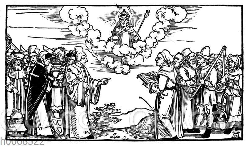 Die falschen und die wahren Apostel Christi. Flugblatt aus der Reformationszeit