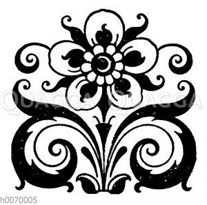 Vignette: Blume