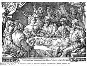 Symbolische Darstellung der Derbheit des Liebesgebarens in der Renaissance
