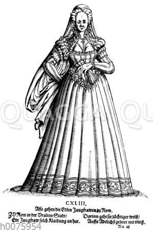 Tracht einer römischen Jungfrau