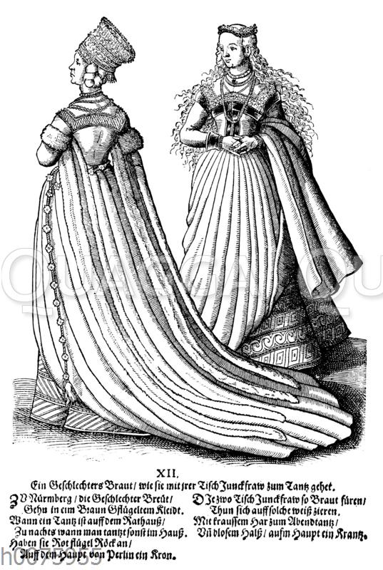 Kleid einer Nürnberger Braut
