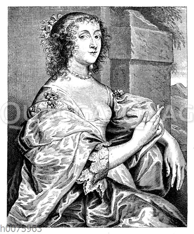 Porträt der Gräfin Percy von Anton van Dyk. 17. Jahrhundert