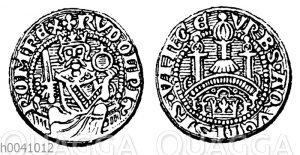 Silbermünze von Rudolf von Habsburg
