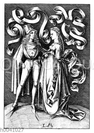 Niederdeutsche Tracht in der zweiten Hälfte des 15.Jahrhunderts