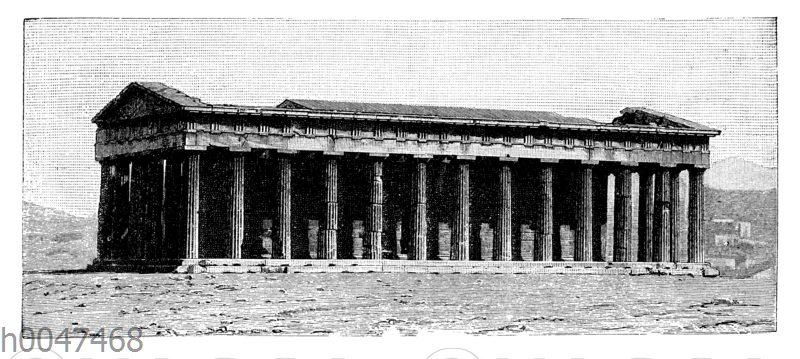 Theseustempel zu Athen. Als Beispiel eines Tempels dorischen Stils