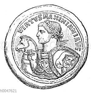 Bronzemedaillon mit dem Bild des Maximianus
