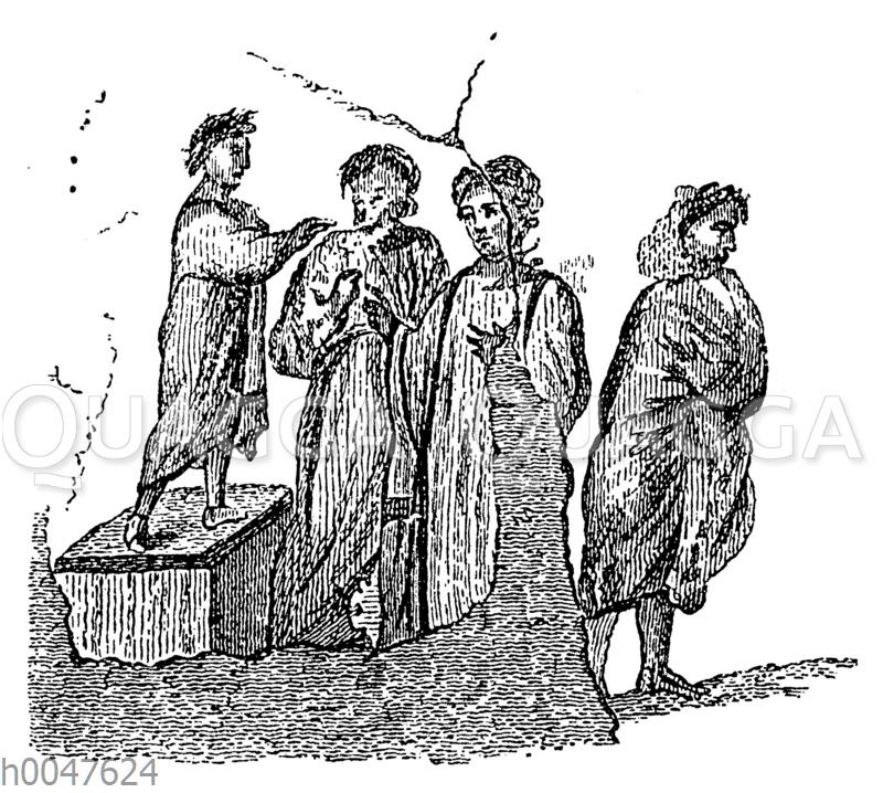 Christen als Angeklagte vor dem Richter