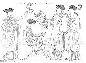 Sappho im Kreise ihrer Gespielinnen