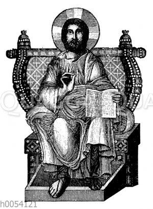 Christus. Mosaik in der Sophienkirche zu Konstantinopel