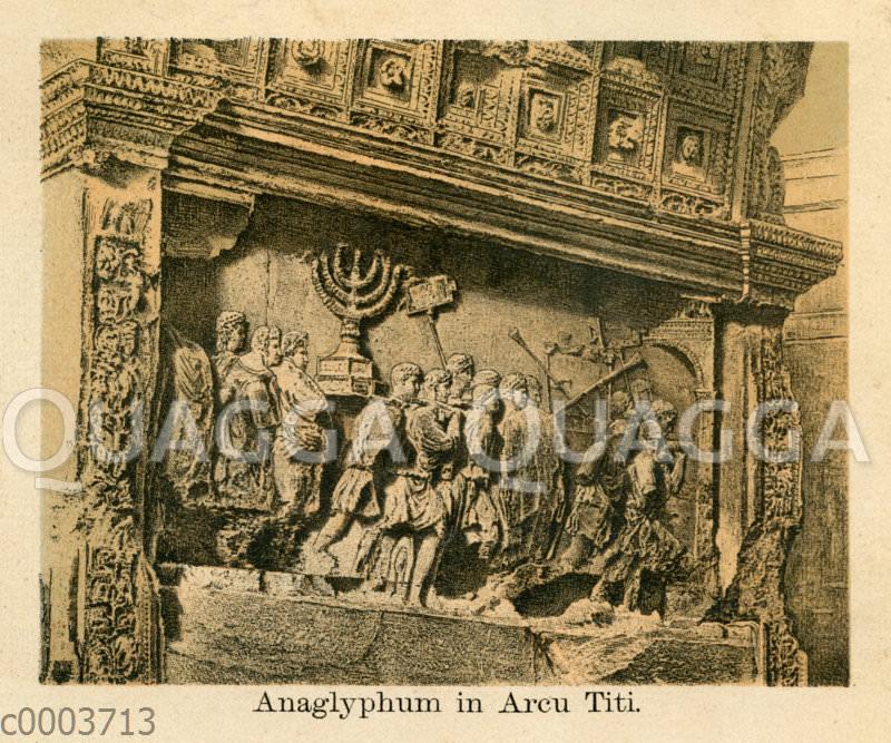 Relief am Titusbogen in Rom