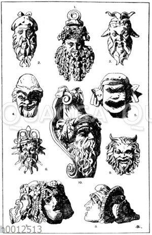 Antike Masken: 1. Bacchusmaske