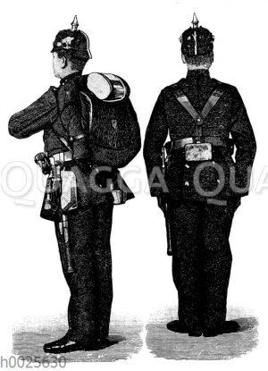 Infanterist mit Ausrüstung