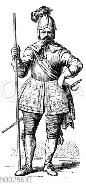 Pikenier aus dem ersten Viertel des 17. Jahrhunderts