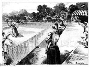 Lawn-Tennis: Doppelspiel: Ein Flugschlag