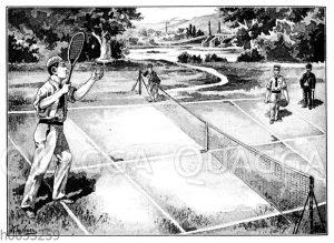 Lawn-Tennis. Einzelspiel: Das Einschenken