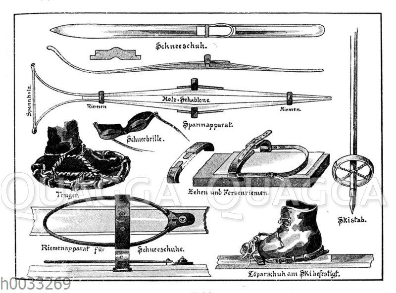 Schneeschuh-Ausrüstung