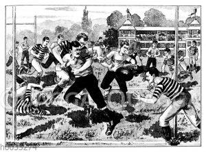 Rugby-Spielszene