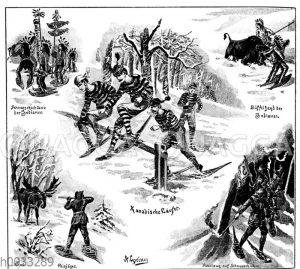 Schneeschuhläufer in Kanada