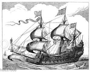 Holländisches Schiff aus dem 16. Jahrhundert