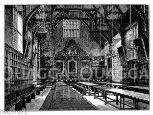 Halle im Trinity College in Cambridge