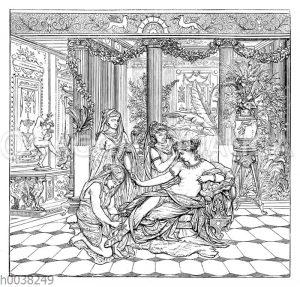 Römerin bei der Toilette