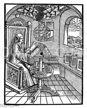 Interieur um 1500: Stube eines Gelehrten