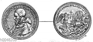 Medaille Gregors XIII. auf die Bartholomäusnacht