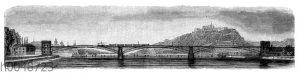 Rheinbrücke bei Koblenz (1864)