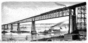 Brücke über den Hudson bei Poughkeepsie in Nordamerika
