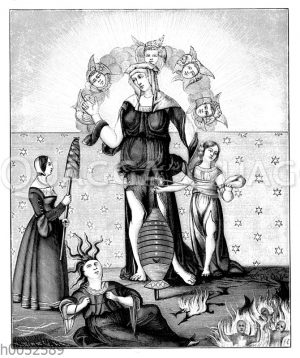 Allegorische Darstellung der Astrologie