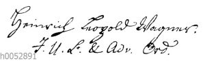 Heinrich Leopold Wagner: Autograph