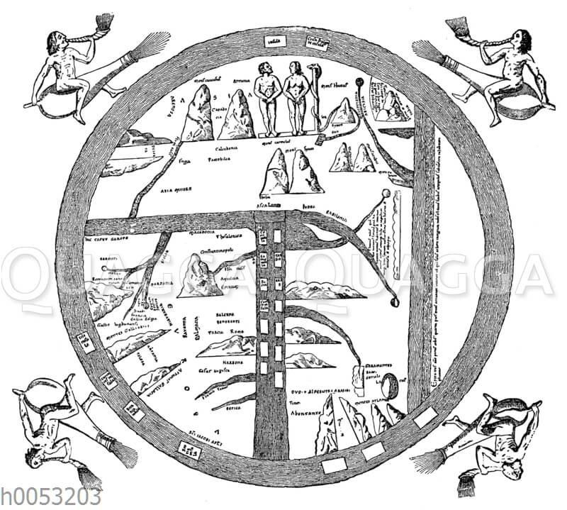 Mittelalterliche Erd-Karte