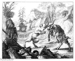 Titelvignette von Gottlieb Wilhelm Rabeners Satiren