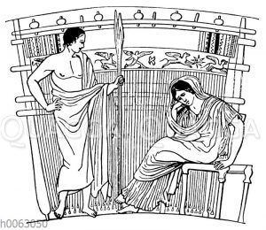 Altgriechischer Webstuhl