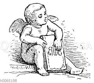 Engel mit 'Ende'-Tafel