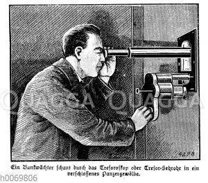 Bankwächter mit Tresoroskop