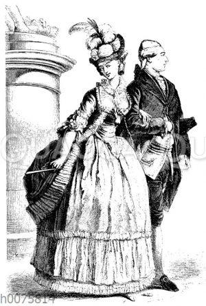 Kleidung um 1780