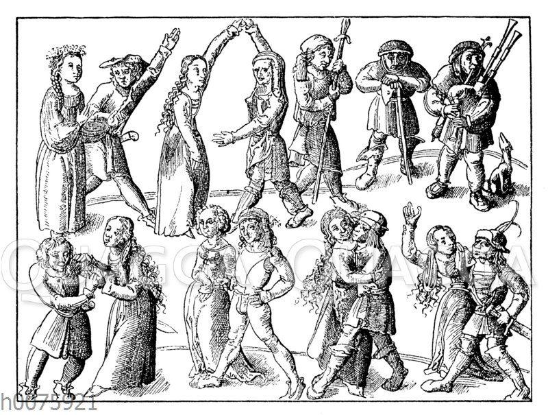 Tanzende Bauern