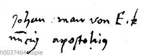 Jan van Eyck: Autograph