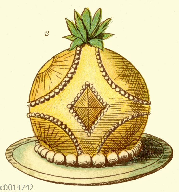 Ananas-Eisbombe