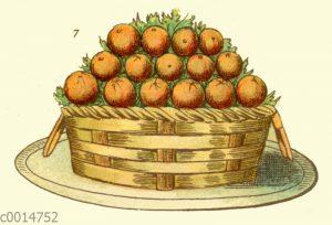 Eisbombe Orangenkorb