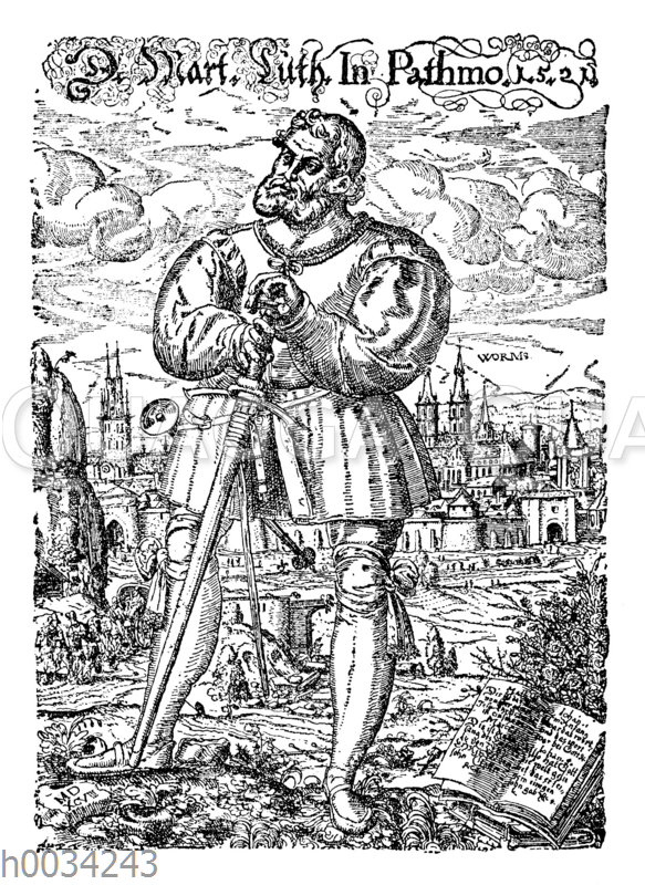 Luther als Junker Georg auf Patmos