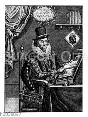 Sir Francis Bacon von Verulam. Nach einem Kupferstich von W. Marshall