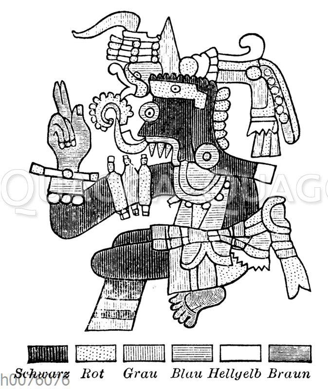 Der mexikanische Wettergott Tlaloc