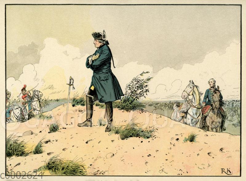 Friedrich der Große in der Schlacht bei Kunersdorf